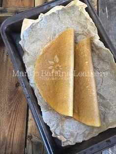 Mango Banana Leathers (raw, gluten-free, nut-free)