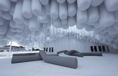 Aufgeblasen: Empfangspavillon zur Design Miami von Snarkitecure  Fotos: Markus Haugg