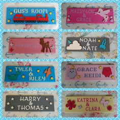 Shared Bedroom Personalised Childrens Door Name Plaque Name Sign intended for dimensions 1500 X 1500 Bedroom Door Name Signs - Having the property that Bedroom Door Signs, Bedroom Doors, Wood Name Sign, Name Signs, Sister Bedroom, Kids Door Signs, Brothers Room, Cardboard Letters, Door Crafts