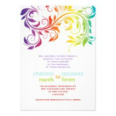 Inspired by These Rainbow Weddings Rainbows Rainbow wedding and