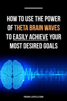 """How to use the power of Theta Brainwaves to easily achieve your most desired goals. If you want to get serious results with the Law of Attraction, you must understand that it's not your """"conscious mind"""" that's manifesting what you are and have. It's a par Mind Power Quotes, Psychic Quotes, Subconscious Mind Power, Powerful Quotes, Inspiring Quotes, Inspirational, Secret Law Of Attraction, Brain Waves, Theta"""