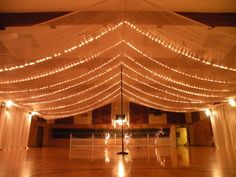 Wedding Reception Canopy. just needs more lights so it looks like stars!!!