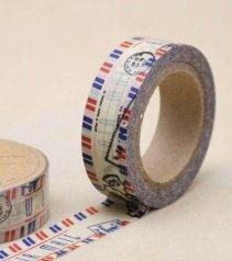 DIY Removable Adhesive Masking Deco Washi Tape - Airmail Stamp. $3.00, via Etsy.