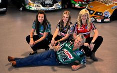 A Driving Force: Meet The First Family of NHRA Drag Racing http://bit.ly/P3eHAP  ....John Force with daughters (Ashley, Brittany, and Courtney)