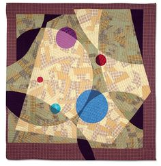 """""""Encounter"""" by Ruby Horansky is one of a series of quilts using only plaid or checked fabric. Photo at Empire Quilters 2011 Quilt Show."""