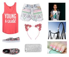 Six Flags w/ Matthew espinosa by danika-magcon on Polyvore featuring polyvore, fashion, style, H&M, Boohoo, Vans, Topshop, Cotton Candy, women's clothing, women's fashion, women, female, woman, misses and juniors