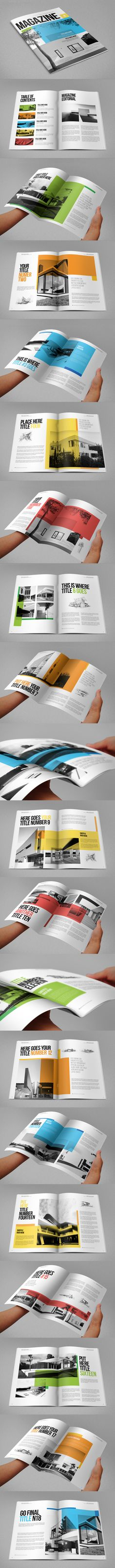 Modern Architecture Magazine. Download here: http://graphicriver.net/item/modern-architecture-magazine/8805408?ref=abradesign #design #magazine