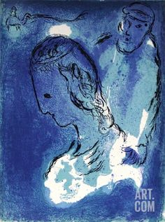 Bible: Abraham et Sarah Collectable Print by Marc Chagall at Art.com