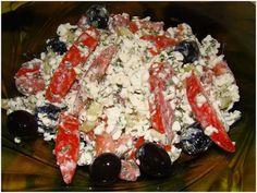 Творожный салат для худеющих.  на 100грамм - 45.5 ккал