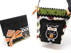 stampin up halloween card and treat box