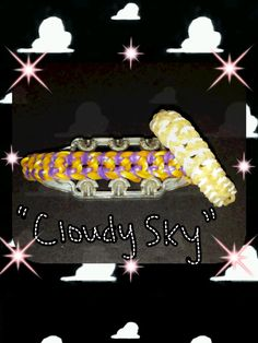 "This cute ""Cloudy Sky"" bracelet was created by @Trashtalker__x on instagram. Its created on the Monster Tail and requires approx. 90 bands.This design was ba..."