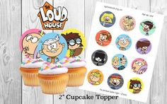 Alto casa imprimible Cupcake Toppers / Topper 2 pulgadas Zootopia, House Party, Cupcake Toppers, Lincoln, Party Time, Birthday Parties, Etsy, Unique Jewelry, Handmade Gifts