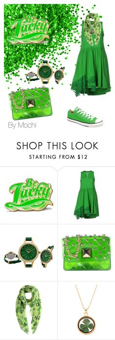 """Luck of the Irish"" by mochi0 ❤ liked on Polyvore featuring Marby & Elm, P.A.R.O.S.H., Hervê Guyel and Converse"