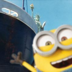 "#Minions Travel: ""Tribe– made it to New York. xoox, Bob"" 