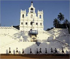 A church in Goa reflects the Portuguese influence beginning in the 1700′s.
