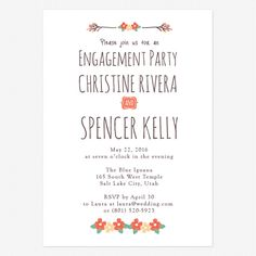 Live and Love Engagement Party Invitations www.lovevsdesign.com