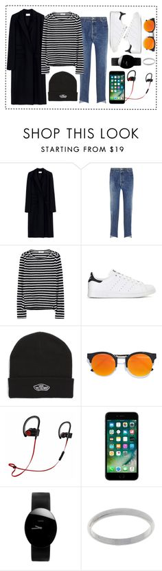 """GDIA"" by xxelectre on Polyvore featuring Thierry Mugler, Vetements, Frame Denim, adidas, Vans, LULUS, Beats by Dr. Dre e Rado"