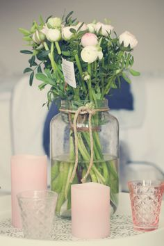Peony Rose in good company of a bouquet of flowers with the same name. #enjoycandles #flamelesscandles #stylish #interiordesign