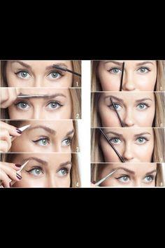 Eyebrow shaping (cutting, brushing, filling)