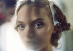 Gemma Ward backstage @ Alexander McQueen
