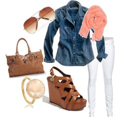 I just need brown wedges and I will essentially have this whole outfit :)