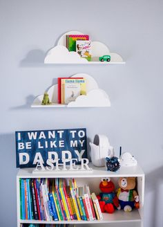 Cloud Shelf For Kids Room Baby Nursery Wall Decor Hanging Cloud Shelves - Decorations For Bedroom Wall Artwork Clouds (item - on Home Shelves Ideas 2719 Nursery Wall Shelf, Shelves In Bedroom, Bedroom Wall, Kids Bedroom, Bedroom Decor, Nursery Decor, Nursery Bookshelf, Nursery Furniture, Kids Furniture