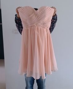 Custom Sweetheart Short Chiffon Bridesmaid Dress 2014 Simple Prom Dress