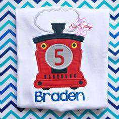 Thomas train birthday shirt or one piece bodysuit- Train birthday shirt- Birthday shirt