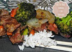 SEGUNDOS: Receta Thai: ternera con verduras