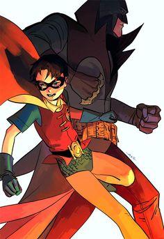 Batman and Robin by Dan Lanh