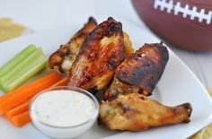 Super Bowl Recipes Part 2: Sweet-n-Tangy Baked Honey Mustard Wings from @Jennifer Leal