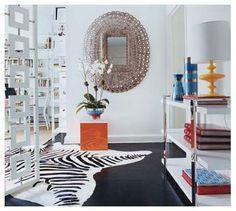 Liz Lange entryway by jonothan adler via Domino Mag