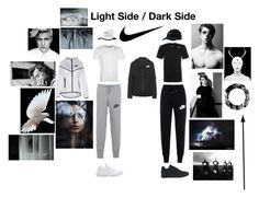 """""""Nike"""" by coopdogxo on Polyvore featuring NIKE, comfort, white, black, Dark and nike"""