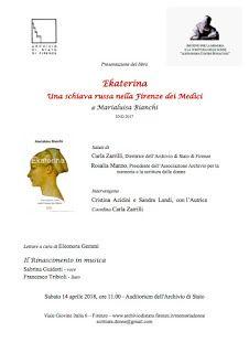 """Italia Medievale: """"Ekaterina"""" presentazione a Firenze"""