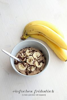 Frühstück: Schoko-Grießbrei mit Banane