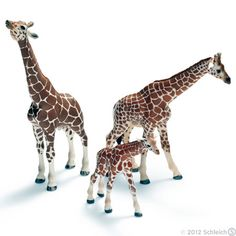 Wyatt loves the Schleich animal figures.  He always makes them walk along the table and loves to tell me their names.