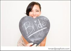 Chalkboard thought bubbles as props for photo booth.