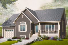 Traditional Style House Plan - 2 Beds 1 Baths 1318 Sq/Ft Plan #23-2281 Exterior - Front Elevation - Houseplans.com