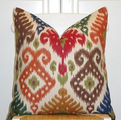 to spice up the couch & chair (with some solids)