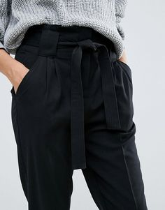 Y.A.S Tall | Y.A.S Tall Slim Leg Tailored Pants With Belted Waist