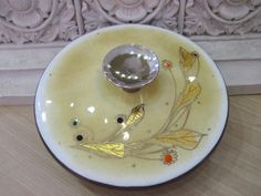 Collectable Signed Mid Century Enamel Covered