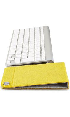 NuAns MAGFIT - Desk Organizer Foldable Mat with Magnetic Cable Holder - Saffron - Magnet Works with Apple Genuine Lightning Cable, may not work with 3rd party cables - Japanese brand - Ideal for gift Best Price