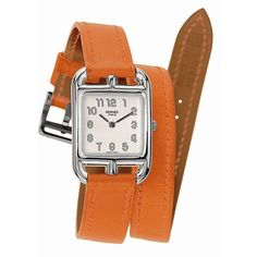 Hermes Cape Cod Leather Wrap Watch