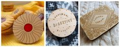 Laser etched biscuit brooches byNikki McWilliams
