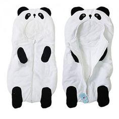 Baby-Cute-Sleeping-Bag-Sack-Romper-Fleece-Panda-Sleepwear-Swaddle-Unisex-Bodysuit-0