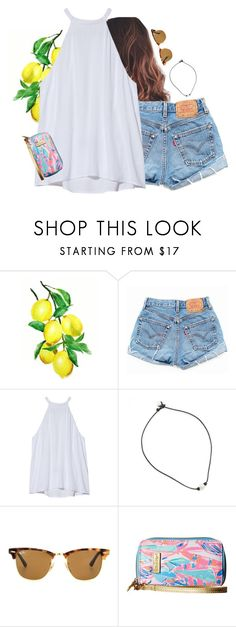 """I need Summer RN"" by aweaver-2 on Polyvore featuring Levi's, A.L.C., Ray-Ban and Lilly Pulitzer"