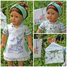 American girl 1930's pleated frock | American Girl Doll . 1930'S Wrap Dress . TUESDAY LAUNDRY Day of the ...