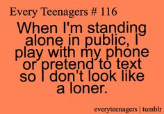 Oh my gosh yes. Parties, meeting people, at the locker room by myself. Its a constant.