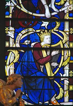 DAVID WITH HARP AND CROWN King David can be identified by his symbolic attributes: a crown and harp.