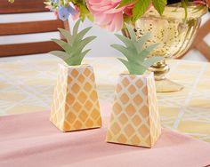 Pineapple Wedding Favor Boxes (Set of 24), Beach Wedding Favors, Tropical, Destination, Hawaiian, Luau Party Favors